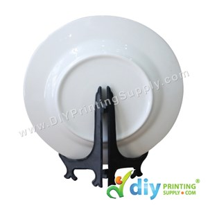 """Ceramic Plate (Silver Lining) (10"""") With Stand & Box"""