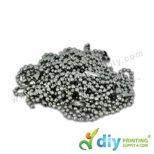"""Bead Chain (Stainless Steel) (6"""") (100 Pcs/Pkt)"""