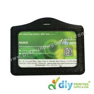 Card Holder (Leather) (Landscape) (Black) (86 X 54mm) (20 Pcs/Pkt)