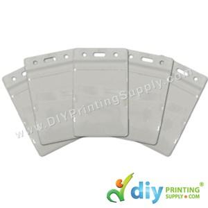 Card Holder (Plastic) (Waterproof) (Transparent) (Portrait) (86 X 54mm) (20 Pcs/Pkt)