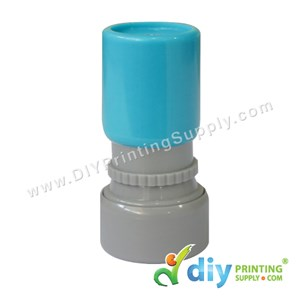 Rubber Stamp Cartoon Chop (Round) (Self Inking) [Adjustable] (Blue)