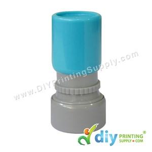 Rubber Stamp Cartoon Chop (Round) (Self Inking) [Adjustable] (Blue)