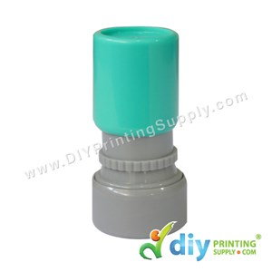 Rubber Stamp Cartoon Chop (Round) (Self Inking) [Adjustable] (Green)