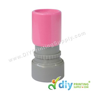 Rubber Stamp Cartoon Chop (Round) (Self Inking) [Adjustable] (Pink)