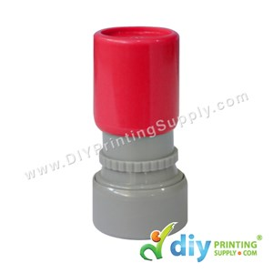 Rubber Stamp Cartoon Chop (Round) (Self Inking) [Adjustable] (Red)