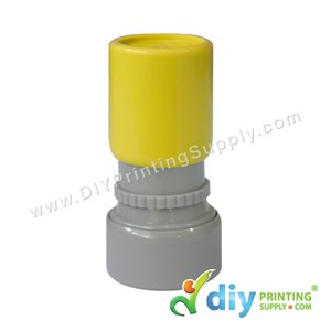Rubber Stamp Cartoon Chop (Round) (Self Inking) [Adjustable] (Yellow)