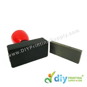 Rubber Stamp Chop (Rectangle) (Self-Inking) [Adjustable] (2.7 X 6.3cm) (XL)