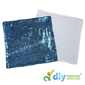 Cushion Cover (Square) (Premium Sparkling Blue) (40 X 40cm)