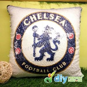 Cushion Cover (Square) (Premium Sparkling Blue) (40 X 40cm)
