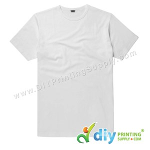 Subli-Cotton Tee (White) (Unisex) (Round Neck) [Casual] (L) (200Gsm)