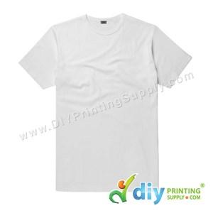 Subli-Cotton Tee (White) (Unisex) (Round Neck) [Casual] (M) (200Gsm)