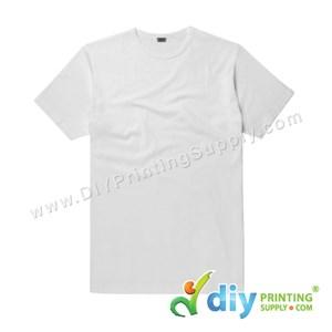 Subli-Cotton Tee (White) (Unisex) (Round Neck) [Casual] (S) (200Gsm)