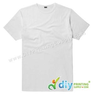 Subli-Cotton Tee (White) (Unisex) (Round Neck) [Casual] (XL) (200Gsm)