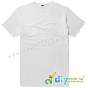 Subli-Cotton Tee (White) (Unisex) (Round Neck) [Casual] (XXL) (200Gsm)