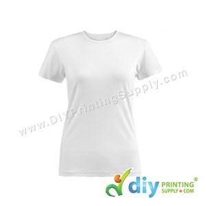 Subli-Cotton Tee (White) (Female) (Round Neck) [Semi-Formal] (XS) (190Gsm)