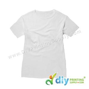Subli-Cotton Tee (White) (Female) (Round Neck) [Casual] (L) (200Gsm)