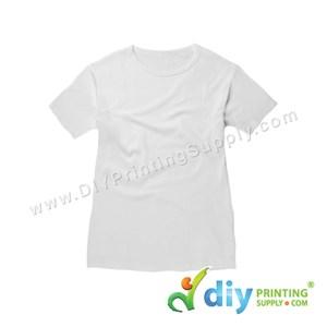Subli-Cotton Tee (White) (Female) (Round Neck) [Casual] (S) (200Gsm)