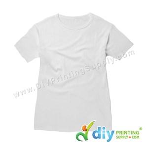 Subli-Cotton Tee (White) (Female) (Round Neck) [Casual] (XL) (200Gsm)