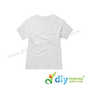 Subli-Cotton Tee (White) (Kid) (Round Neck) [Casual] (L) (200Gsm)
