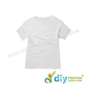 Subli-Cotton Tee (White) (Kid) (Round Neck) [Casual] (M) (200Gsm)
