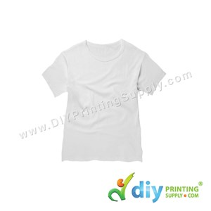 Subli-Cotton Tee (White) (Kid) (Round Neck) [Casual] (S) (200Gsm)