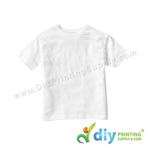Subli-Cotton Tee (White) (Kid) (Round Neck) (Special Size) [Casual] (S) (200Gsm)