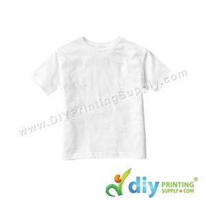 Subli-Cotton Tee (White) (Kid) (Round Neck) (Special Size) [Casual] (XS) (200Gsm)