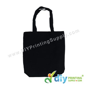 Tote Bag (Canvas 12oz) (Black) (H39 X W34 X B10cm)