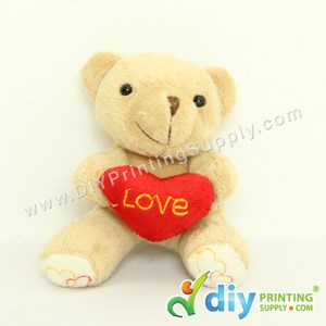 Teddy Bear [Love] (Coffee) (10cm) With Keychain