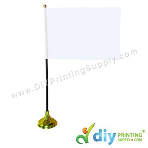 Table Flag (Plastic) (Gold) (14 X 21cm)