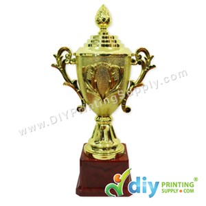 Trophy Award With Aluminium Board (Large) (28cm)