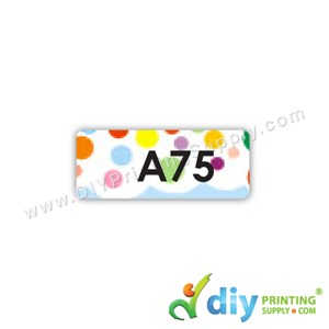 Name Sticker (Small) (1,800Pcs) (5M) [Polka Dots]