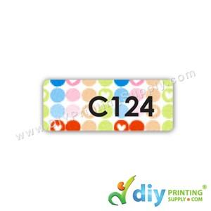 Name Sticker (Medium) (1,000Pcs) (5M) [Polka Dots]