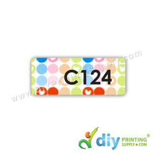Name Sticker (Medium) (1,000Pcs) (5m) [Polka Dots]
