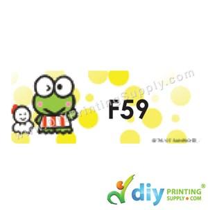 Name Sticker (Large) (500Pcs) (5m) [Keroppi]