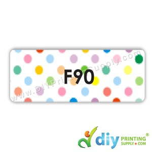 Name Sticker (Large) (650Pcs) (1.4cm) (5M) [Polka Dots]