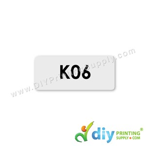 Name Sticker (Small) (1,800Pcs) (5M) [Transparent]