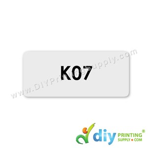 Name Sticker (Medium) (1,000Pcs) (5M) [Transparent]