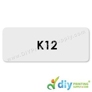 Name Sticker (Large) (500Pcs) (5M) [Transparent]