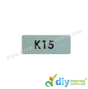 Name Sticker (Small) (1,800Pcs) (5M) [Silver]