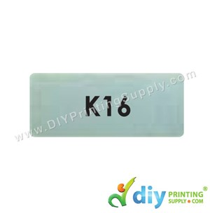 Name Sticker (Medium) (1,000Pcs) (5M) [Silver]