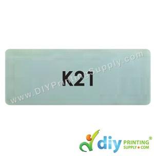 Name Sticker (Large) (500Pcs) (5m) [Silver]