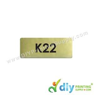 Name Sticker (Small) (1,800Pcs) (5M) [Gold]