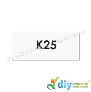 Name Sticker (Medium) (1,000Pcs) (5m) [White]