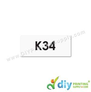 Name Sticker (Small) (1,800Pcs) (5M) [White]