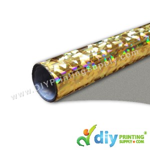 Hologram Vinyl Transfer Film (Crystal) (Gold) (1m X 48cm)