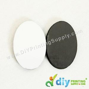 Wooden Fridge Magnet (Oval) (62 X 42 X 6mm)