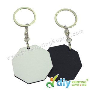 Wooden Keychain (Octagon) (50 X 50mm)