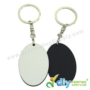 Wooden Keychain (Oval) (57 X 41mm)