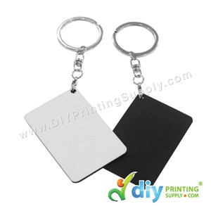 Wooden Keychain (Rectangle) (57  X 41mm)